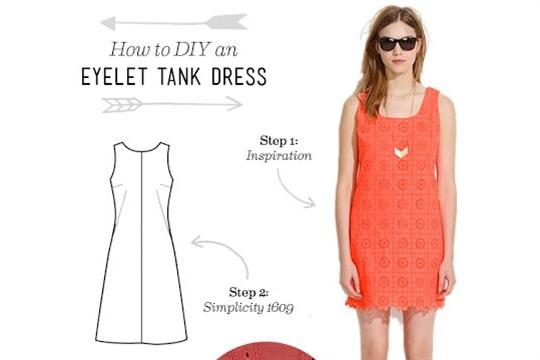 How to DIY an Eyelet Tank Dress