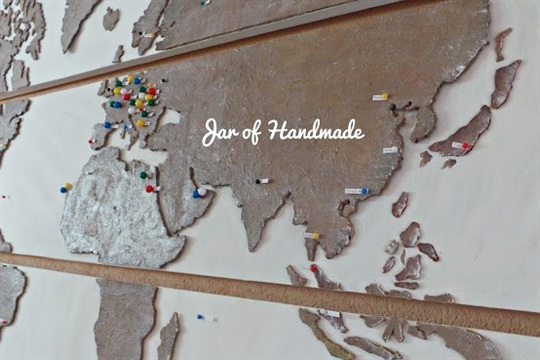 DIY Personalized World Map For All Travel Lovers!