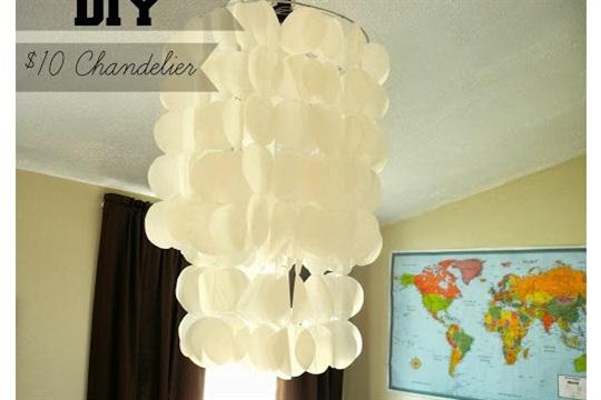 DIY Chandelier Light Fixture