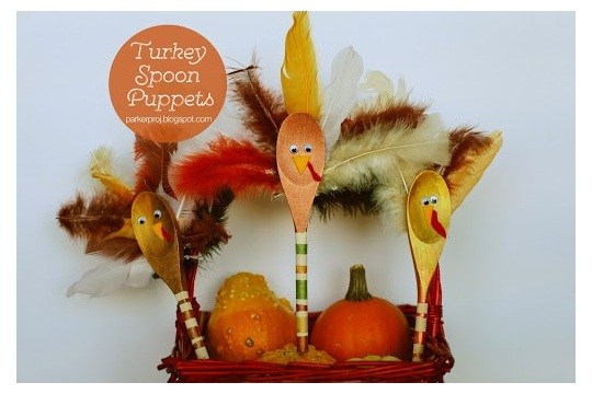 The Parker Project Thanksgiving DIY Spoon Turkey Puppets