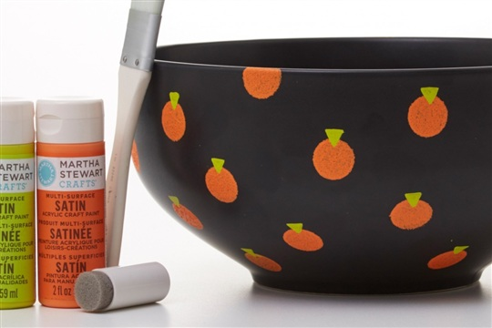 Graphic Pumpkin Candy Bowl