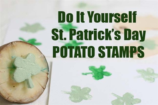 DIY Holiday St. Patricks Day Stamp