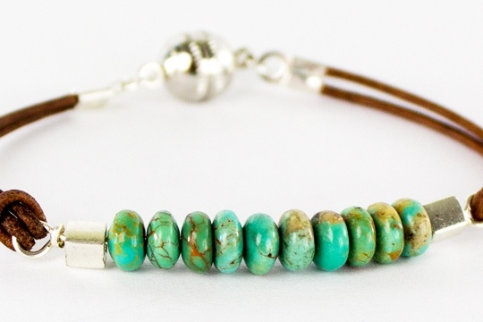Beaded leather wristlet _ how to make a wire wrap loop