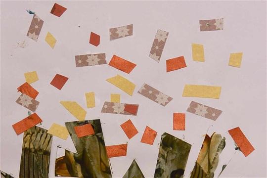 Hello autumn tree painting collage!