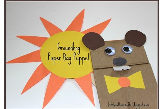 Groundhog Paper Bag Puppet