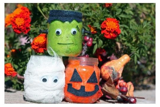 Halloween Kid's Craft Make A Mummy, Frankenstein and A Jack Lantern!