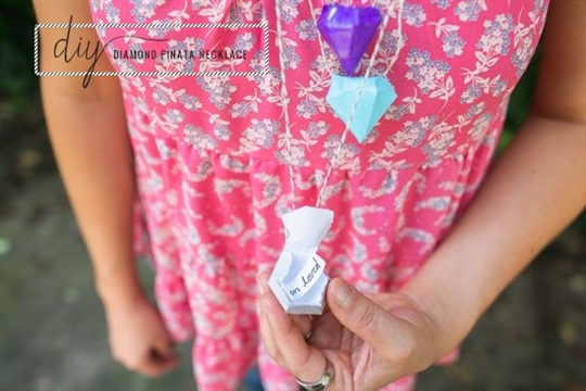 Diamond Pinata DIY Necklace