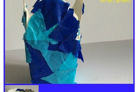 DIY Hanukkah Gift Box Collage Activity