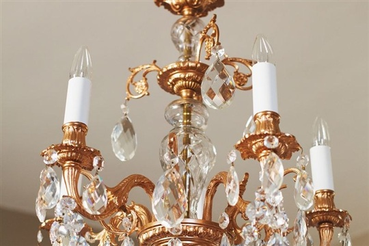 Our Restyled Copper Chandelier