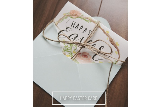 Watercolor easter card