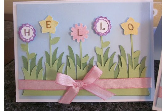 Paper, Scissors, Ink. Straight from the nest HELLO flower cards