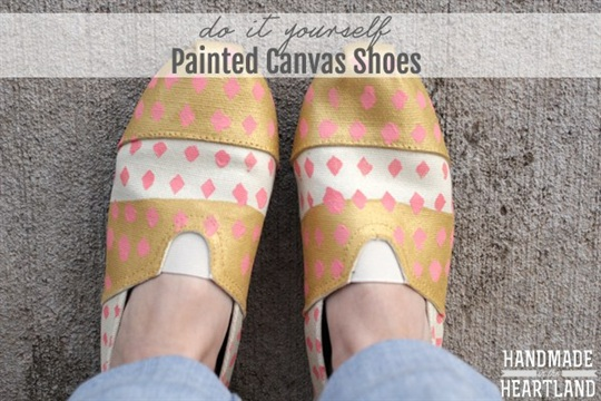 DIY Painted Canvas Shoes