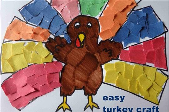 Turkey Craft {Good Fine Motor Skills Activity}