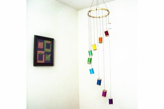 Colorful Spool Mobile