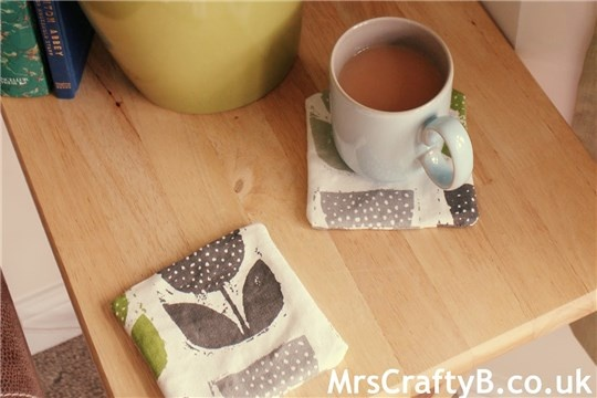 Crafting With Hillarys How to Make A Handmade Lampshade and Washable Fabric Coaster Covers