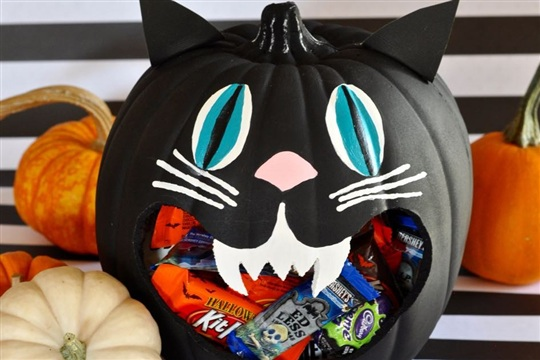 DIY Halloween Candy Bowl Tutorial & Candy Apples