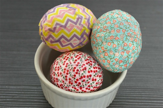 How to Make Washi Tape Eggs