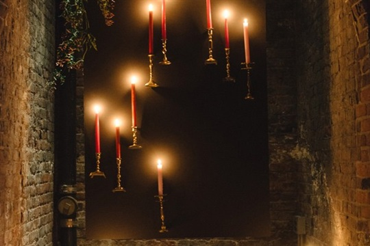 DIY Floating Candlestick Backdrop