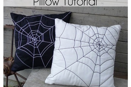 Quilted Spider Web Pillows