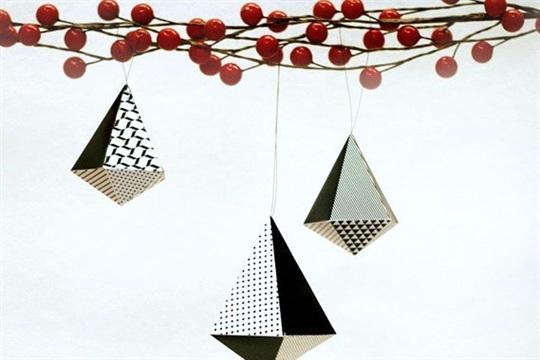 Printable Geometric Holiday Ornaments