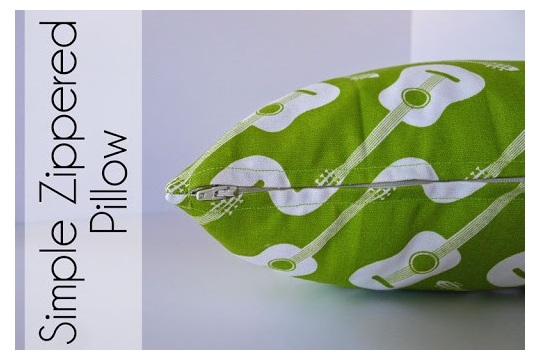 Simple Zippered Pillow Tutorial