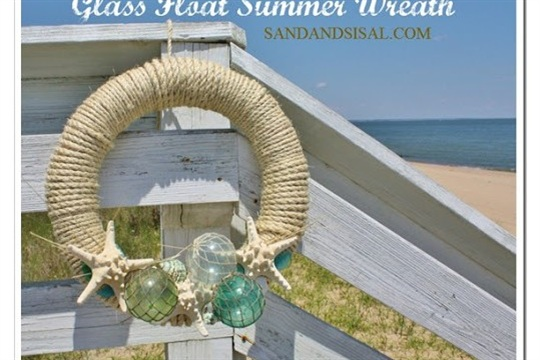 Glass Float Summer Wreath