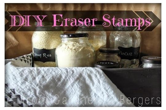 DIY Number 2 Eraser Stamps