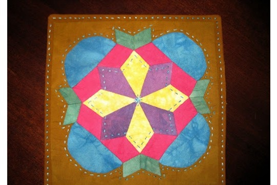 From orphan quilt block to mug rug