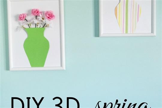 DIY 3D Spring Wall Decor