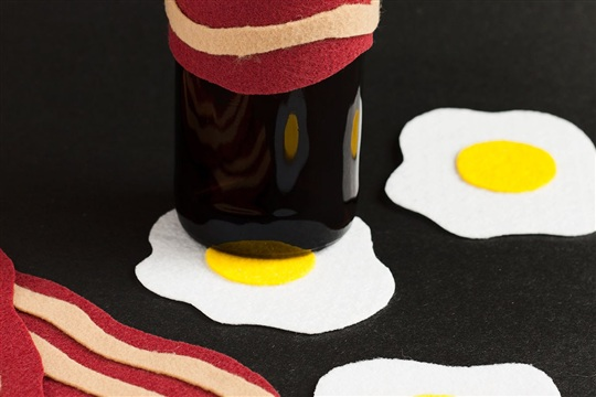 DIY Bacon Koozies - Paint the Gown Red