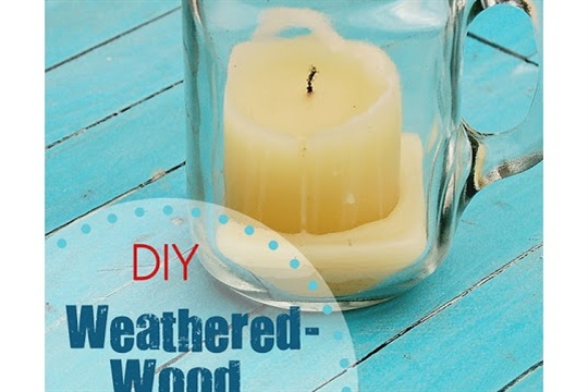DIY Weathered Wood Photo Backdrop | Scattered Thoughts of a Crafty Mom