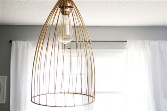 DIY Cage Pendant LIght