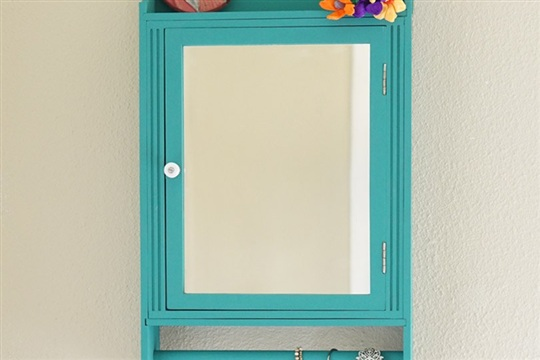 Upcycled Vanity Cabinet with Chalk Paint