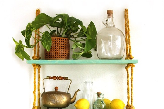 DIY Rope Shelf - All I need is a Drill?