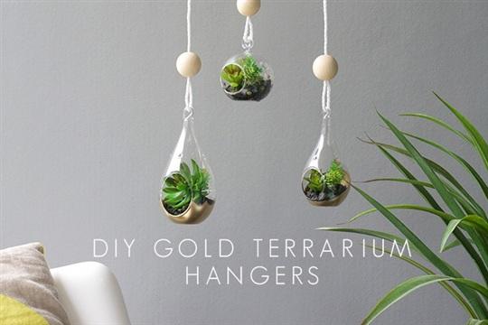 DIY GOLD TERRARIUM HANGERS FOR MOTHER'S DAY