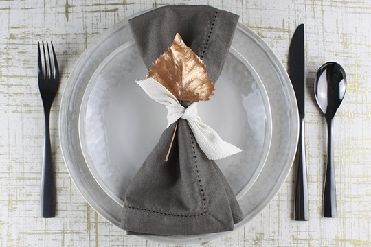 Painted Leaf Place Settings