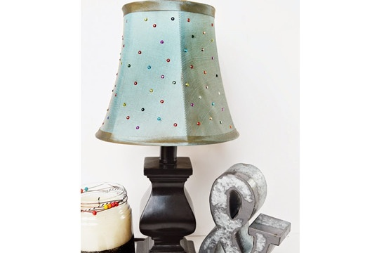 How to Bling-Up a Lamp