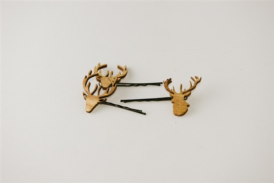 [DIY] deer hair pins