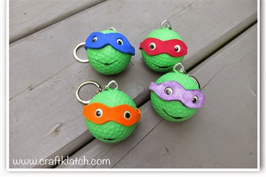 DIY Teenage Mutant Ninja Turtles Backpack Charms or Ornaments