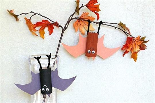 Hanging Bat Craft for Kids