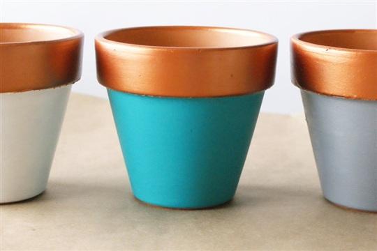 Copper Dipped Planter DIY
