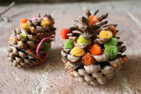 Fall Craft for Kids Decorate Pinecones