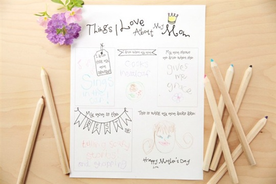 Things I Love About My Mom Printable