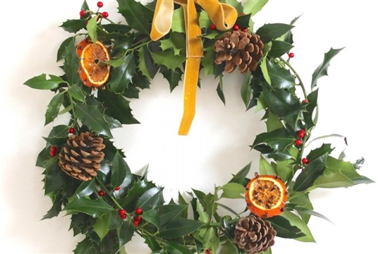 diy. christmas wreath.