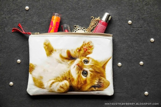 Handmade Holiday Presents DIY Cat Photo Pouch