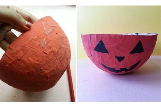Balloon Mod Podge To Halloween Candy Bowl