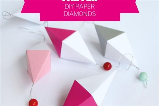 Diamanter i papper DIY Paper Diamonds Enkla roliga pyssel f?r barn och vuxna