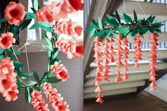Paper Floral Chandelier