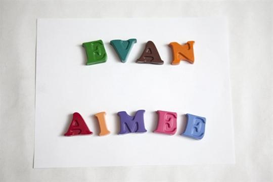 DIY personalized alphabet crayons