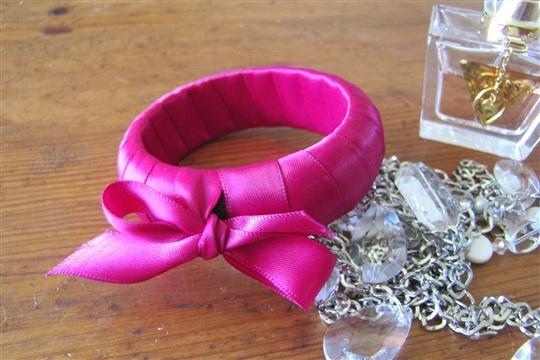 DIY Ribbon Wrapped Bangle